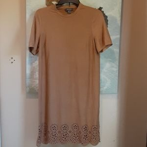 NWOT Primark Tan Faux Suade Dress Size 8